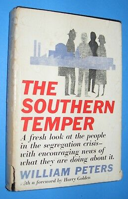 1959 Signed 1st Ed DJ The Southern Temper Segregation Civil Rights Era McMAINs