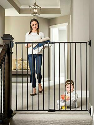 Regalo Extra Tall 2-in-1 Stairway and Hallway Walk Through Gate, Black