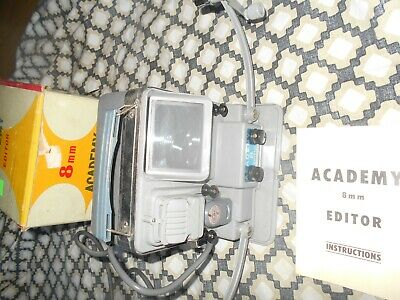 Vintage 8 mm Academy Editor - Boxed With Instructions.