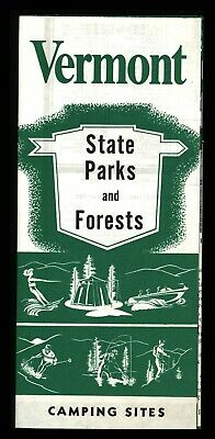 Vintage Vermont State Parks & Forests Travel Guide Brochure Camping Sites 1960's