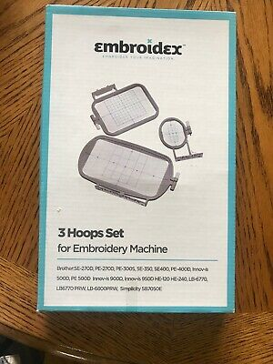 Embroidex 3 Hoop Set For Machine Embroidery