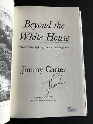 Signed Jimmy Carter Book Beyond The White House Autographed H/C JSA Certified