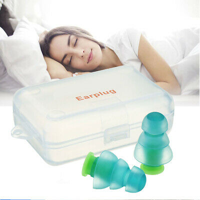 1Pair Silicone Noise Cancelling Hearing Protection Earplugs For Concert Sleep