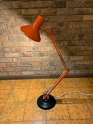 Vintage Retro Orange LUXO Swivel Articulated Floor Lamp Light Made In Australia