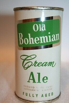 Old Bohemian Cream Ale 1960 flat top beer can from Hammonton, New Jersey