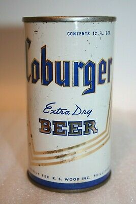 Coburger Extra Dry Beer 1970 flat top beer can from Allentown, Pennsylvania
