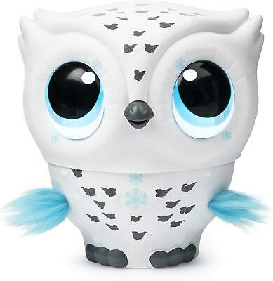 Owleez Flying Baby Owl Interactive Toy with Lights & Sounds White