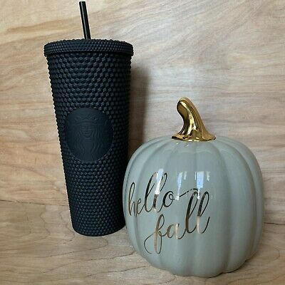 2019 Fall Limited Edition Starbucks Matte Black Studded Tumbler