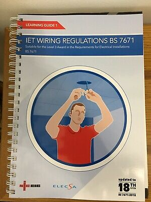 IET wiring regulations BS 7671:2018 Learning Guide 1