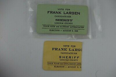 2 Vintage 1948 Lincoln County SHERIFF Tennessee TN Voting Campaign Tickets