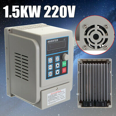 220V 1.5KW 2HP 8A Variable Frequency Drive Inverter CNC VFD Single - Three Phase