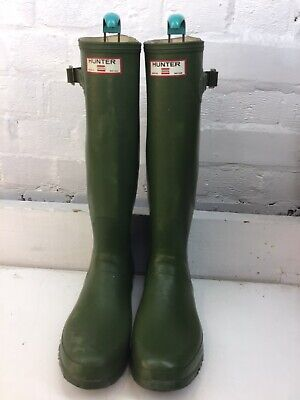 mens hunter wellington boots in Green Size 9UK