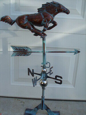 Horse Weathervane Antique Copper Finish Stallion Weather Vane Hand Crafted