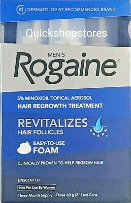 Rogaine for Men Hair Regrowth Treatment 5% Minoxidil Topical Aerosol Exp 01/2021