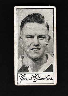 1957,BARRATT & CO LTD,FAMOUS FOOTBALLERS-A5,*F.BLUNSTONE-CHELSEA*-*CARD No 20*