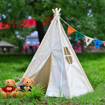 51inch Portable White Teepee Tent Kids Playhouse Sleeping Dome Children Backdrop