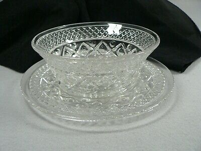 Bread Plate and Bowl Glass 2 Piece Set