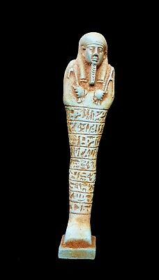 Rare Ancient Egypt Shabti Egyptian Ushabti Statue Stone Antique Figure Faience