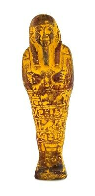 Rare Faience Ancient Egyptian Ushabti late Period glazed Shabti Stone hieroglyph