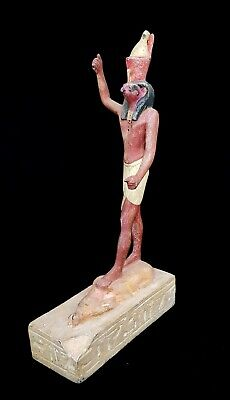 Rare Horus Egyptian Statue Falcon Figurine Ancient Egypt hieroglyphic antique