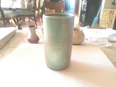 Rare Deichmann Pottery, Moss Glen New Brunswick ''Large Green And Red Cup