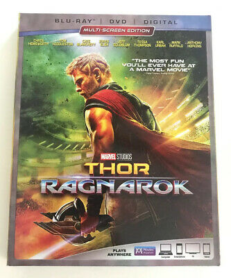 Thor: Ragnarok (Blu-ray+DVD+Digital) Marvel Studios   BRAND NEW