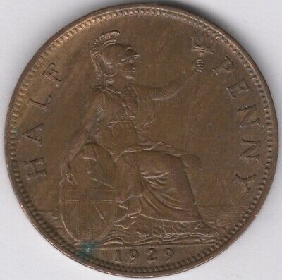 1929 George V Halfpenny   British Coins   Pennies2Pounds
