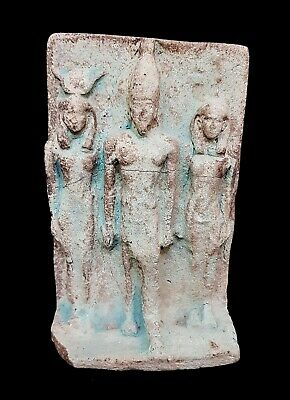 Very Rare Ancient Egyptian King Menkaure Triad old kingdom antique Hathor isis
