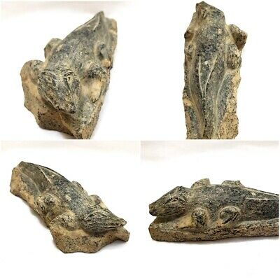 Rare Ancient Egyptian Sobek Crocodile Statue Figurine Stone antique hieroglyphic