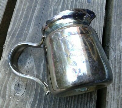 REED & BARTON 4018 SILVER SOLDERED 8 OZ creamer pitcher patina tarnish heavy met
