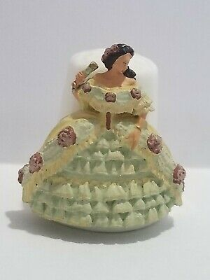 Sterling Classic Thimble Victorian Lady Roses Huge Dress England