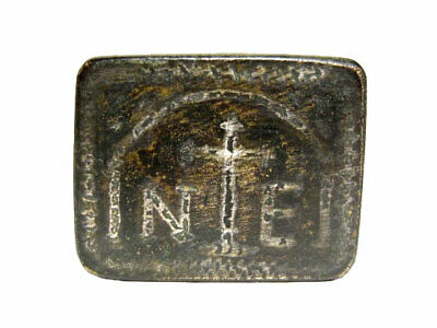 Extremely Rare Romano-Byzantine Silver Inlay Bronze Exagium, One Ounce Weight+++