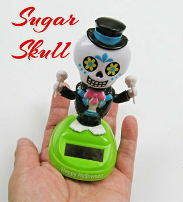 SUGAR skull CATRINA Solar decor DAY OF THE DEAD dia de LOS muertos CELEBRACION @