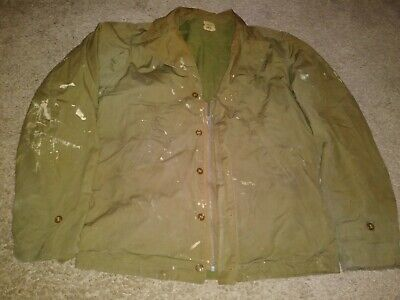 Rare Vtg Usn Us Army Jacket M-41 Field 36L Men Military Bomber Ww2 Wwii 40S