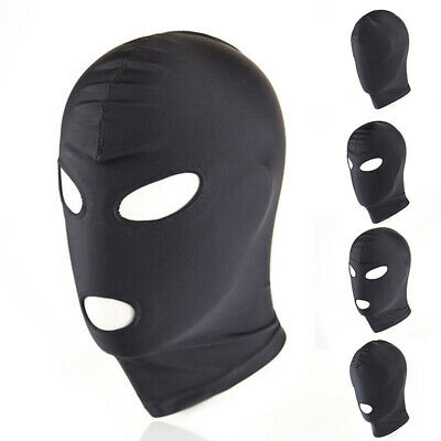4 Styles Unisex Mask Stretchy Head Fetish Hood Roleplay Bondage Cosplay Party