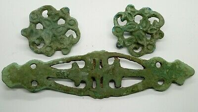 Bronze Buckle Decoration Zoomorphic Deer Griffin Goat Horse harness / Scythian
