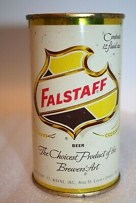 Falstaff Beer 1950's flat top beer can from Fort Wayne, Indiana