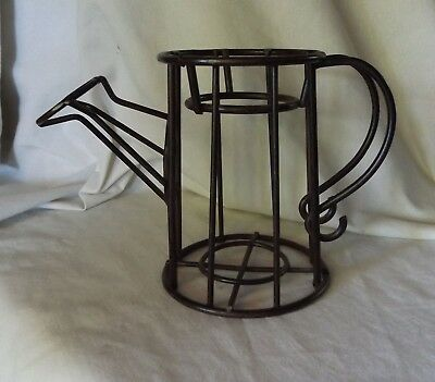 Iron Metal Candle Holder Pillar Vase Watering Can Shape 5""