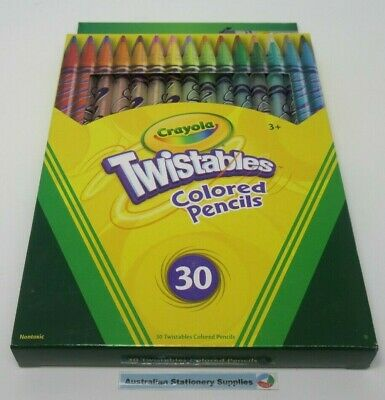 30 x Crayola Twistable Pencils new and sealed ages 3Up in stock (GC)