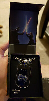 Star Wars The Force Awakens Kylo Ren Stainless Steel Dog Tag Pendant Necklace
