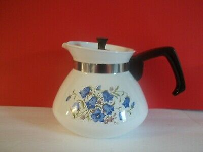 REDUCED Vintage Promotional Corning Ware 6 cup Blue bells Teapot 1971 to 1972