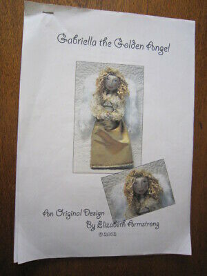 Gabriella The Golden Angel Doll Pattern By Elizabeth Armstrong From 2002