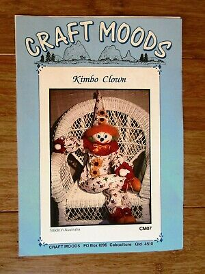 Kimbo Clown Patterns From Craft Moods For Large & Small Clowns + 2Hats.
