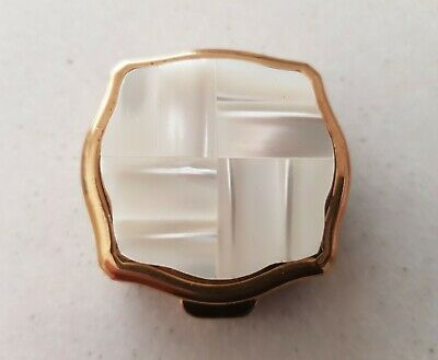 Rare Vintage Mother of Pearl Inlaid Ladies Portable Ashtray with Box Circa 1950s