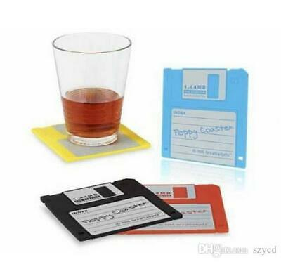 4x Silicone Floppy Coaster Office Home Drink Glass Mat Table 9 x 9.5 cm Sydney