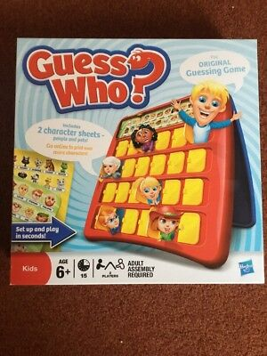 guess who board game, By HASBRO, Used , No Rules .See Photos, List 115