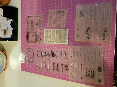 7 Mxed Stamp Sets included planner society stamp