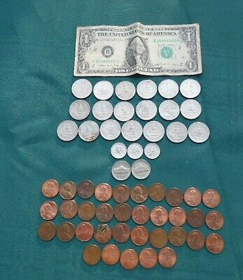 US Note and Coins - Mixed