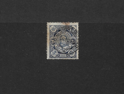 1910 SOUTH AFRICA - KING GEORGE V. CORONATION -  SG1 2½d BLUE USED