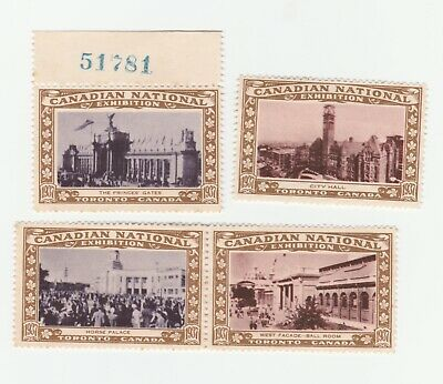 Canada NationalExpo 1937 x 4 poster stamps